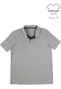Camisa Polo Masculina Básica Na Modelagem Slim