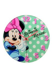 Relógio De Parede Decorativo - Disney - Minnie Mouse - Bow-Tiful - Mabruk
