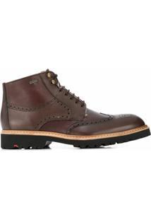 Lloyd Ankle Boot Varon Com Forro De Pelo - Marrom