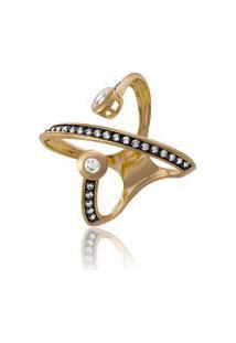 Anel Extension Duplo Oa Com Diamante Branco E Ttlb