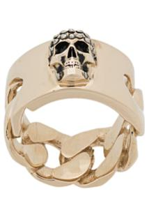 Alexander Mcqueen Skull Motif Ring - Prateado