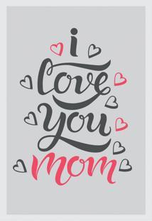 Quadro Decorativo Com Moldura Mamma Cinza