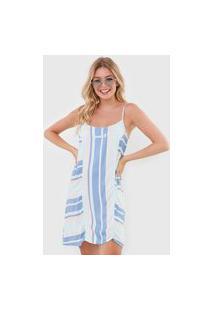 Vestido Hang Loose Curto Waves Beach Azul/Rosa