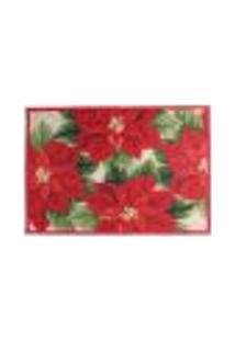Tapete De Natal Poinsettia Vermelho 68X49 Cm