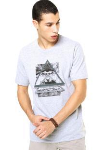 Camiseta West Coast Geométrica Cinza