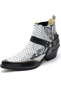 Bota Top Franca Shoes Country Gelo E Preto