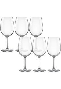Conjunto De Taças Para Água Carpe Diem Em Cristal 540Ml 6 Peças - Nadir