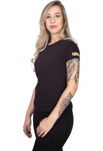 Camiseta 4 Ás Preta Manga Curta Gold