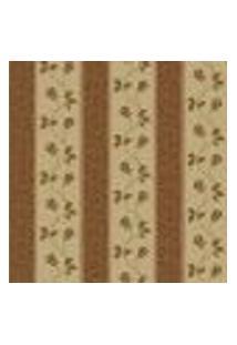 Papel De Parede Flowertime Ff202-19 Dourado Vinílico Com Estampa Contendo Floral, Folhagem, Listrado