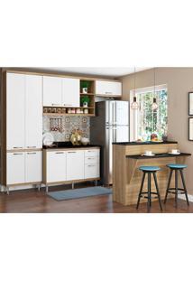 Cozinha Compacta Com Tampo 6 Peças 5846 Sicília - Multimóveis - Argila / Branco