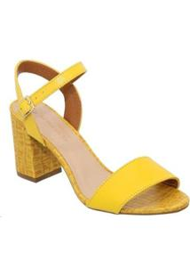 Sandalia Sandalo Clave De Fa Lemon Amy Feminina - Feminino-Amarelo Claro