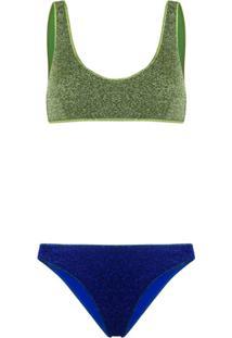 Oseree Metallic Lurex Bikini - Verde