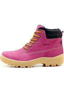 Bota Coturno Atron Shoes Ride Work Rosa