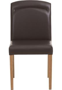 Cadeira Rosana - Couro Marrom