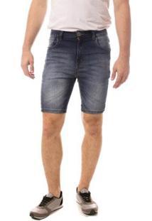 Bermuda Jeans Eventual Mid Drop Masculina - Masculino