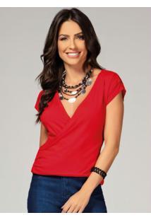 Blusa Vermelha Com Transpasse