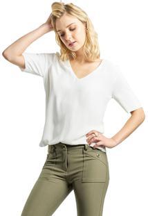 Blusa Mx Fashion Crepe Constance Off White