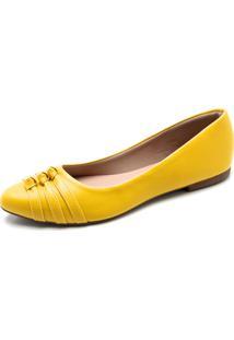 Sapatilha Dafiti Shoes Nó Amarelo