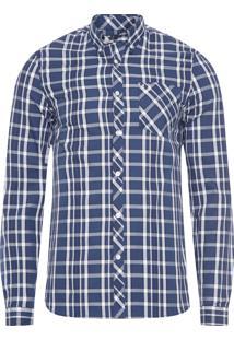 Camisa Masculina Xadrez Bold - Azul
