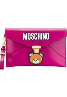 Moschino Clutch 'Teddy Bear' - Rosa