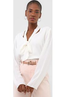 Blusa Morena Rosa Textura Off-White - Off White - Feminino - Viscose - Dafiti