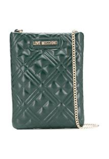 Love Moschino Quilted Mini Cross-Body Bag - Verde