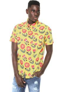 Camisa Rvca Pelletier Tropic Amarela