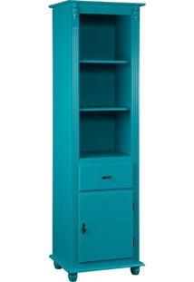 Torre Com Porta E Gaveta 190 Cm Azul