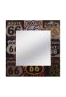 Espelho Route 66 50Cmx50Cm