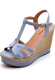 Sandália Dr Shoes Anabela Jeans
