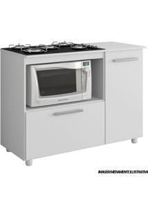 Balcão Para Cook 5006 Top 5 Bocas Branco Premium Multimóveis