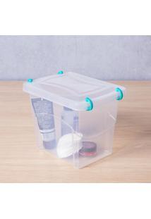 Caixa Organizadora Pratic Box 2 Litros 18X13X14Cm Translucido Paramount Plásticos