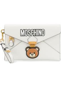 Moschino Clutch Envelope 'Teddy Bear' - Branco