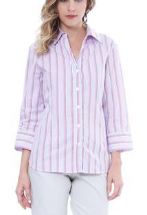 Camisa Moché 3/4 - Feminino-Rosa