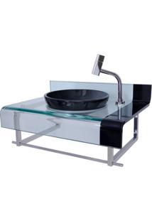 Gabinete Para Banheiro De Vidro Mini Chopin Astra Preto