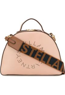 Stella Mccartney Bolsa Tiracolo 'Stella' Com Logo - Rosa