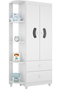 Guarda-Roupa Infantil 2 Portas Ternura Flex Branco/Rose-Lc Móveis