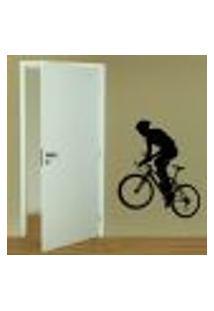 Adesivo De Parede Esporte Ciclismo Mod. 2 - G 70X60Cm