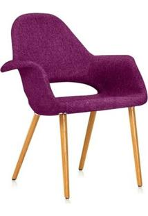 Cadeira Estofada - Saarinen - Orgânica - Lilás