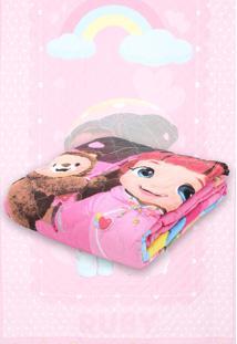 162981d808 Colcha Infantil Menina Rosa. Colcha Solteiro Lepper Rainbow Ruby Rosa