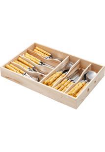 Faqueiro Com 42 Peças De Aço Inox Bamboo - Bon Gourmet - Prata