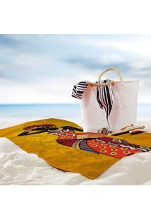 Toalha De Praia / Banho Mulher Africana