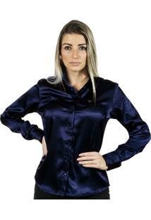 Camisa Pimenta Rosada Anabela Azul Marinho
