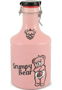 Garrafão Growler Steel-Grumpy Bear 2Litros-Mondoceram - Rosa