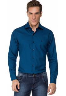 Camisa Baumgarten Quadriculada Azul