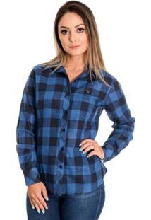 Camisa Azul Rosa feminina  ed68584d0d058