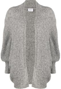 Snobby Sheep Cardigan Com Abertura Frontal - Cinza