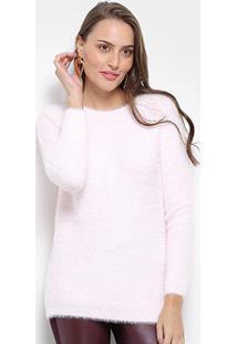 Suéter Tricot Facinelli Pelúcia Feminino - Feminino-Rosa