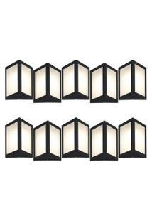 Arandela Triangular Preto Kit Com 10 Casah