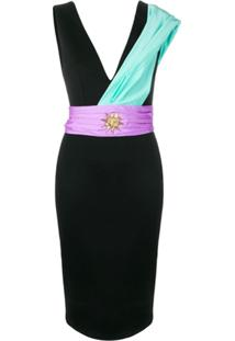 Fausto Puglisi Sash Fitted Sun Dress - Preto